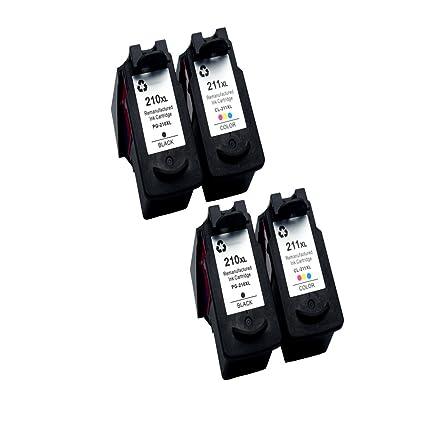 comada 4pk Remanufacturado cartucho de tinta para Canon PG-210 X L ...