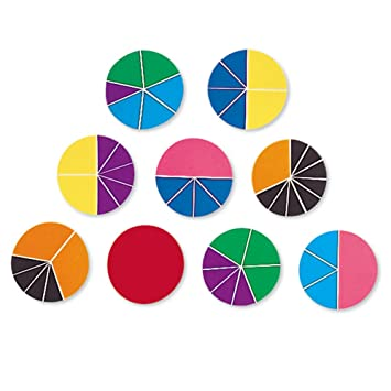 Amazon.com: Learning Resources Deluxe Rainbow Fraction Circles ...