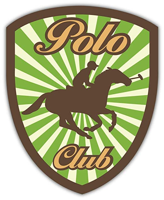 SkyBug Vintage Horse Polo Club Emblem Bumper Sticker Vinyl Art ...