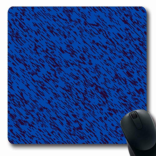 Ahawoso Mousepad Oblong 7.9x9.8 Inches Denim Blue Effect Abstract Melange Pants Canvas Casual Color Fiber Flecked Design Graphic Office Computer Laptop Notebook Mouse Pad,Non-Slip Rubber