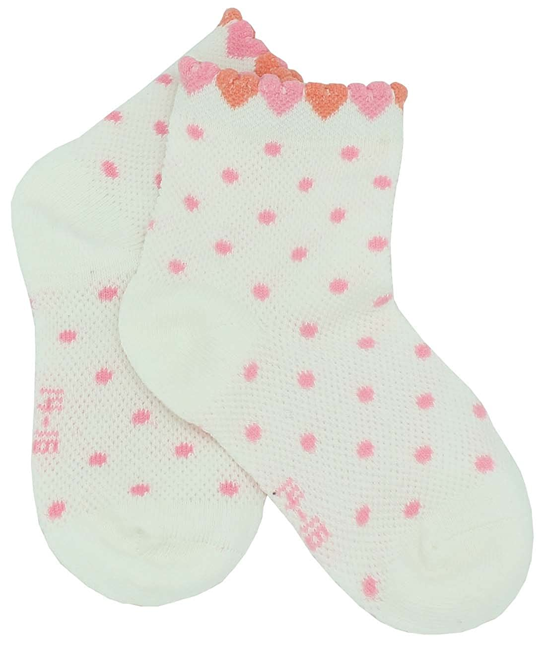 AmazingUSA Little Girls 2 Pack Lovely Dot Cotton Socks