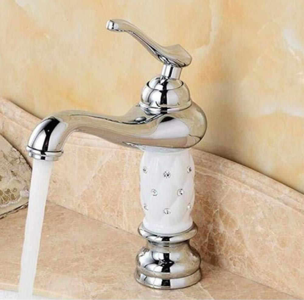 Edelstahlhahn Weiße Chrombadhahnwasserhahn 360 Grad Drehbare Wasserhahn  Küchen Mischbatterie Sanitärbedarf U0026 Reinigungsmittel