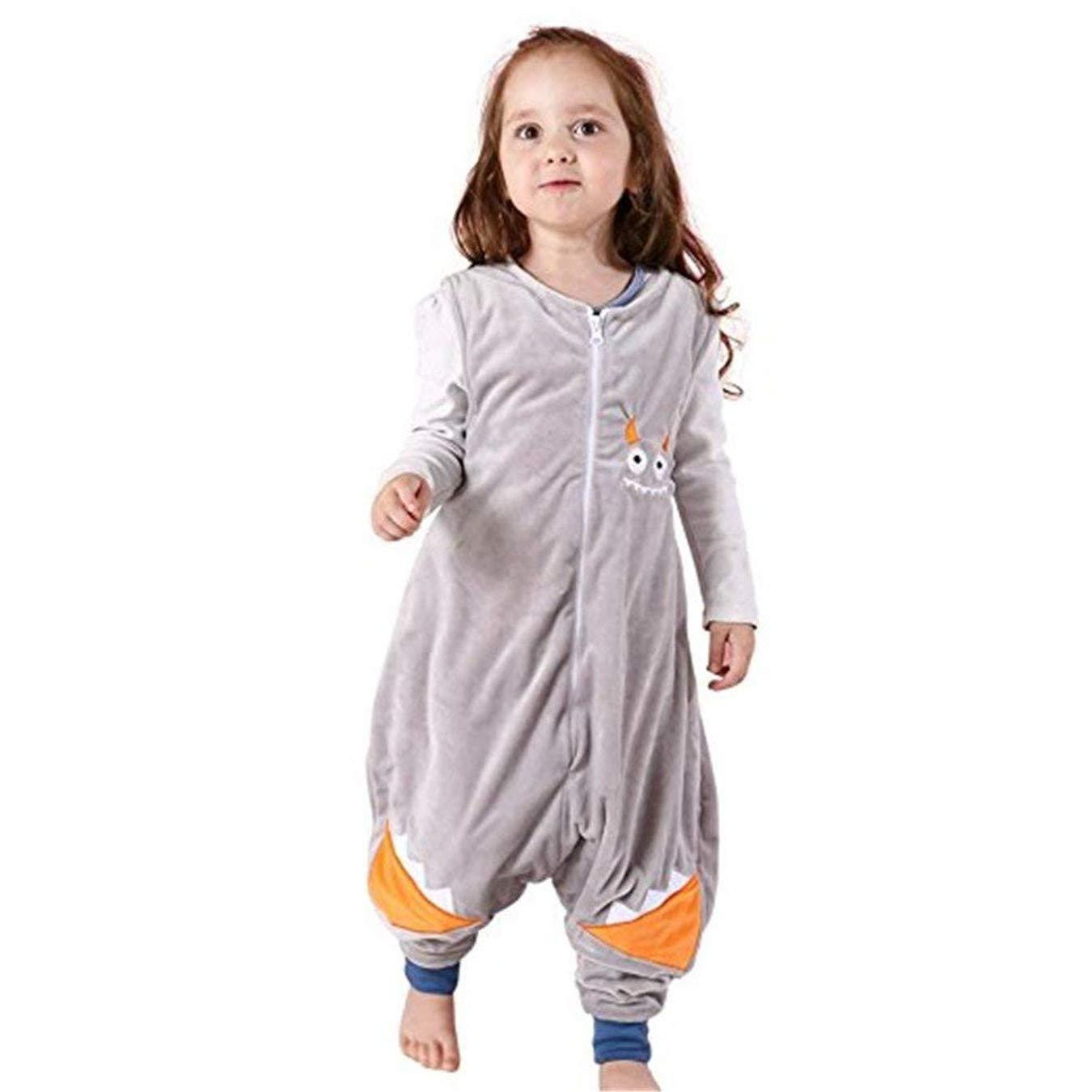 Queque Shine Sacco a pelo di flanella Sacchi nanna con piedini lettino per bambini bambina