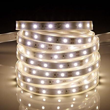 wholesale dealer 7ff19 90da0 Biard 5m 12V IP44 Waterproof 3528 LED Strip Light - Warm White - Outdoor,  Garden, Kitchen, Bathroom, Garage Lighting Decoration