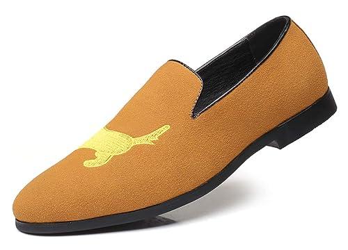 AARDIMI - Pantuflas y Mocasines de Caucho Hombre, Color Amarillo, Talla 38 EU