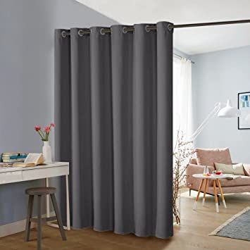 gray vertical blinds grey floor grey pony dance privacy curtain partition room divider curtains screen full length portable blackout vertical blinds amazoncom
