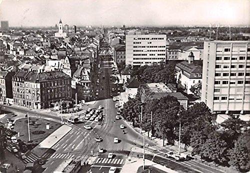 Blick auf die Kaiserstrasse und Techn Hochschule Karlsruhe Germany Postcard