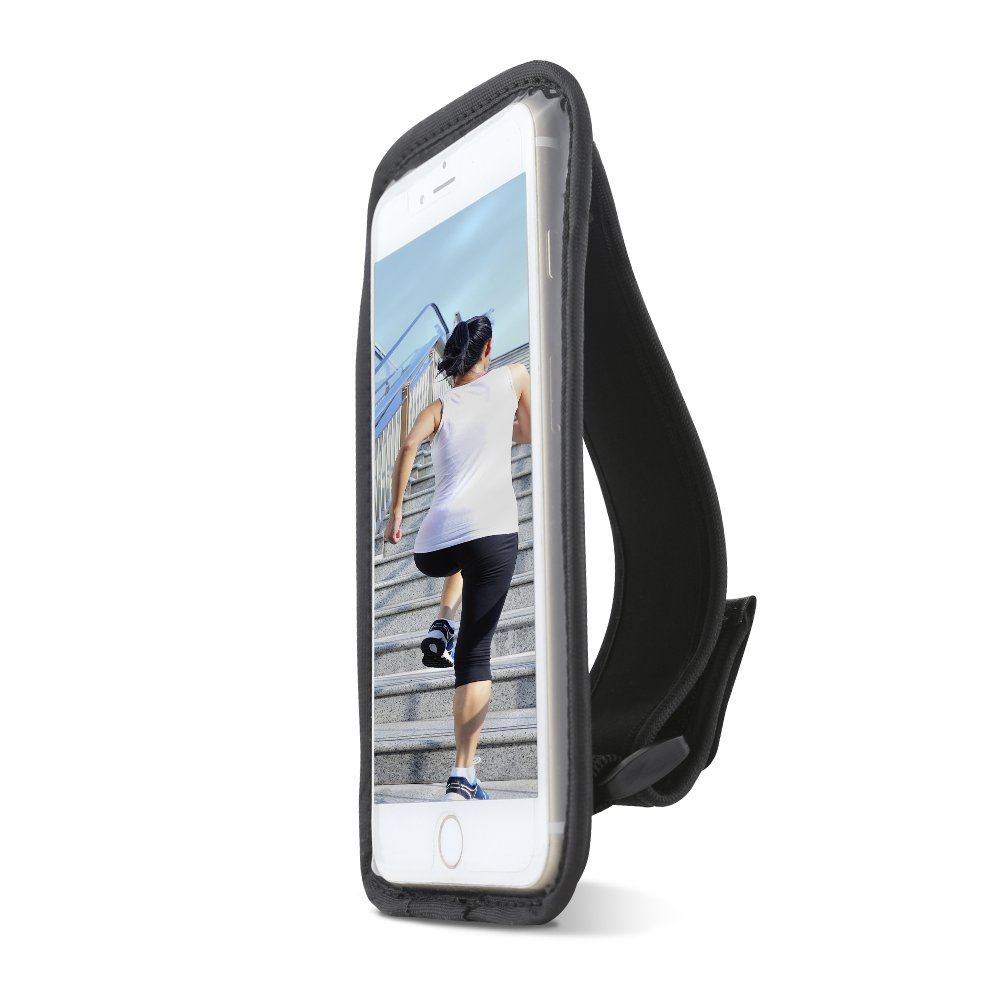 4cc213984a Gear Beast Sports Hand Held Running Case Pouch Fits iPhone X 8 7 6s 6 SE 5.  Cell Phone Holder for Running Jogging Workout Fitness Exercise.