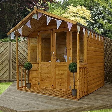Nova - Casita de verano tradicional de 18 x 18 cm con diseño de Veranda: Amazon.es: Jardín