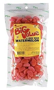 Enjoy Hawaii Li Hing Mui Sour Watermelon Candy 14 Ounce