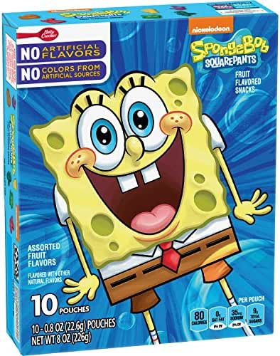 Fruit Snacks: SpongeBob SquarePants