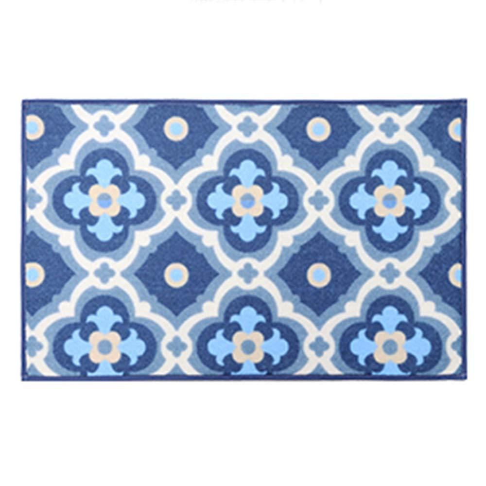 Mgoldccan art 50180cm Door mat Floor mat - Nylon fabric, absorbent and non-slip, easy to clean, geometric pattern, kitchen floor mats door mats home bedroom mat bathroom mat bathroom absorbent carpet - 3 sizes, 3 styles av