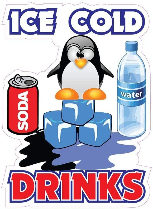 Ice Cold Drinks Concession Decal Sign Restaurant Food Truck Vinyl Sticker 10 inches