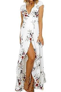 a52fc5007 Ropa Lunares rojo Sannysis falda mujer vestidos largos de verano