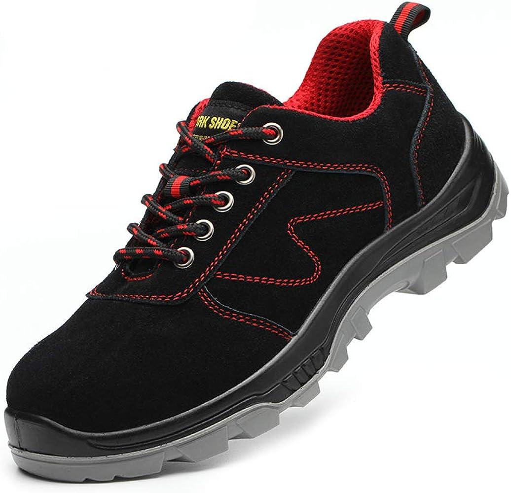 Zapatillas de Seguridad para Hombre Deportivas Zapatos para Trabajo de Construccion Puntera de Acero Protección de Entresuela Zapatos de Trabajo Senderismo Tallas Grandes,Negro,36EU: Amazon.es: Zapatos y complementos