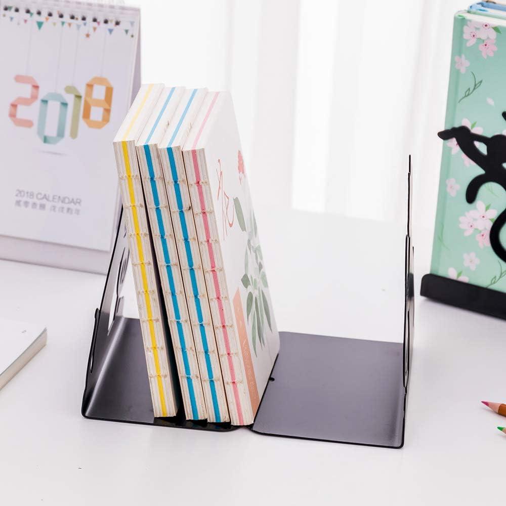 18.5cm Wmaple Serre-livres robustes en forme de chat en m/étal Bookends pour /étag/ères de bureau 1350 16 10