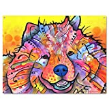 Chow Chow Dog Dean Russo Metal Sign Benzi Pop Art 16 x 12