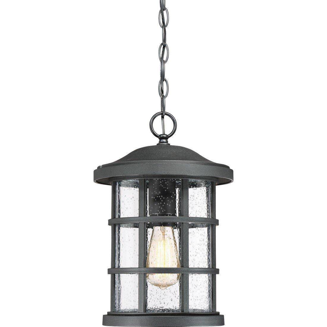 Quoizel One Light Outdoor Hanging Lantern CSE1910EK, Large, Earth Black