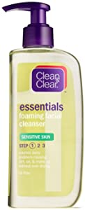 CLEAN & CLEAR Foaming Facial Cleanser Sensitive Skin 8 oz (Pack of 4)
