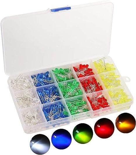 3mm assortimento di LED 5 colori á 20 pezzi = 100 pezzo