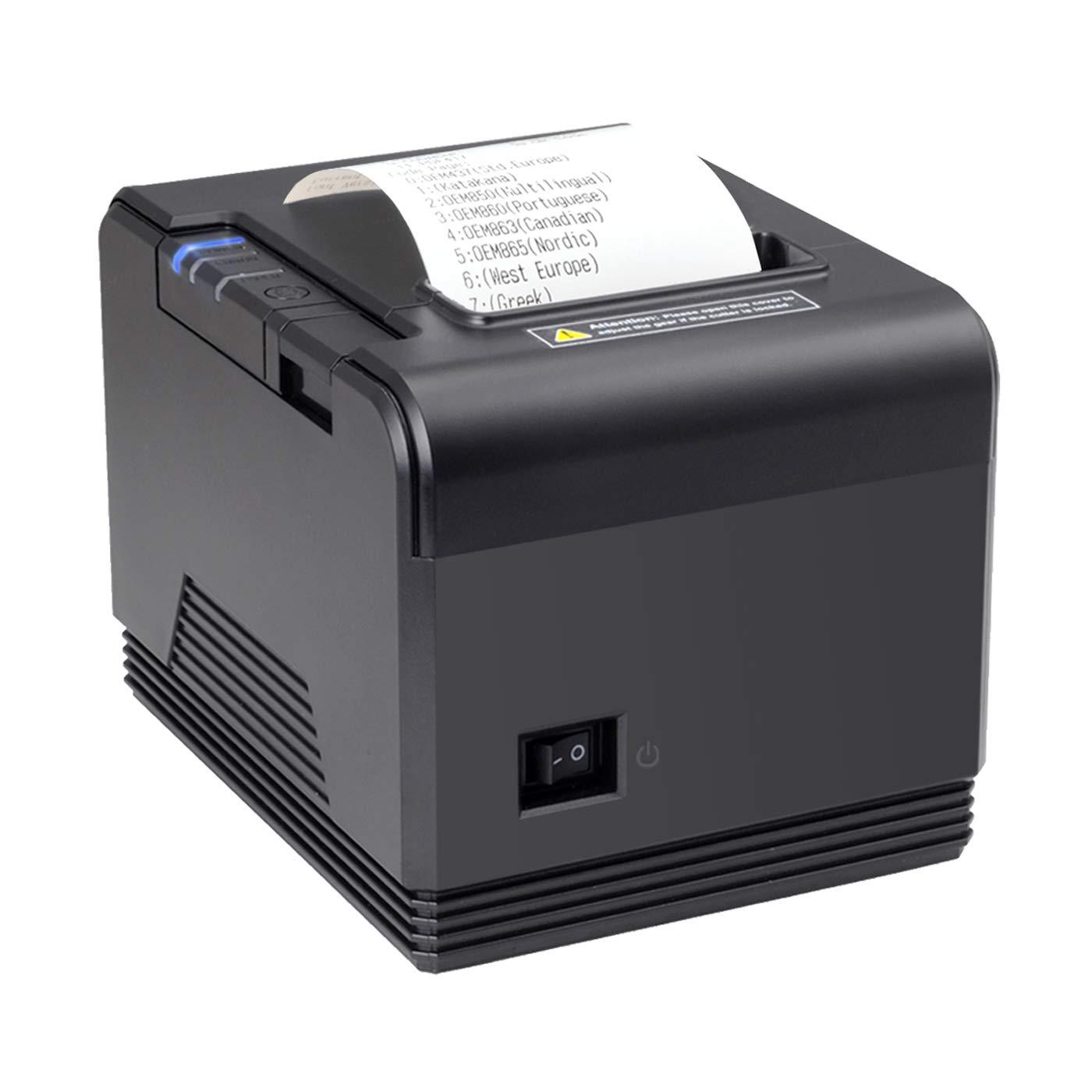[Generación 2.0] Impresora Térmica de Tickets, 300 mm/s, POS Tikitera 80 mm, Corte Automático, Impresora de Recibos de Comando ESC/POS, Compatible con ...