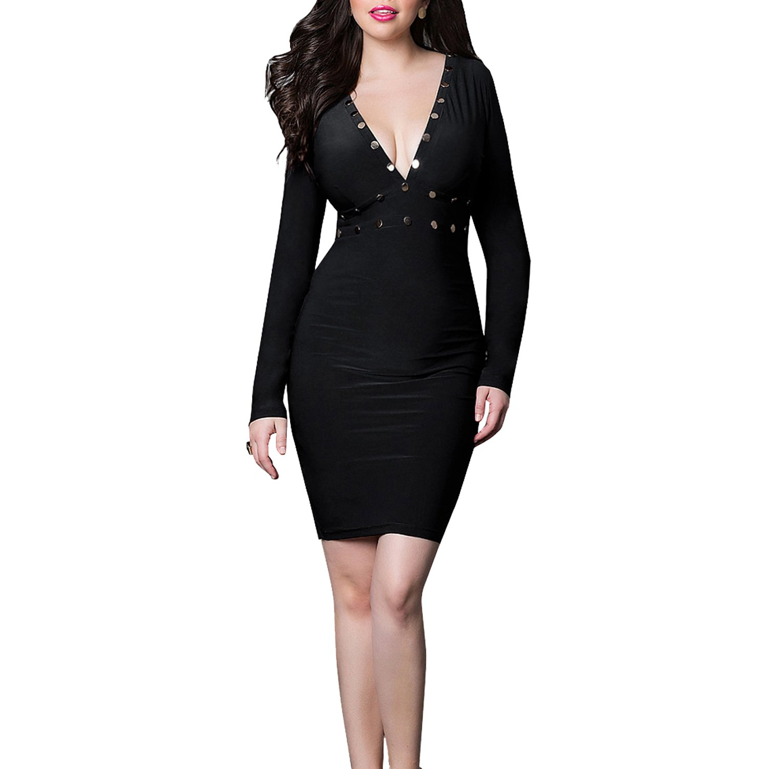 Zeagoo Womens Casual Fishtail Bodycon Bandage Party Cocktail Dress