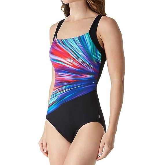 c2c5e2e1c4 Reebok Women s Bright Horizon Constructed One Piece Swimsuit at Amazon  Women s Clothing store