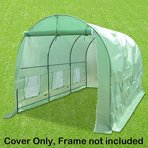 STRONG CAMEL Hot Green House Cover for 12′ X 7′ X 7′ Larger Walk In Outdoor Plant Gardening Greenhouse (FRAME DOES NOT INCLUDED))