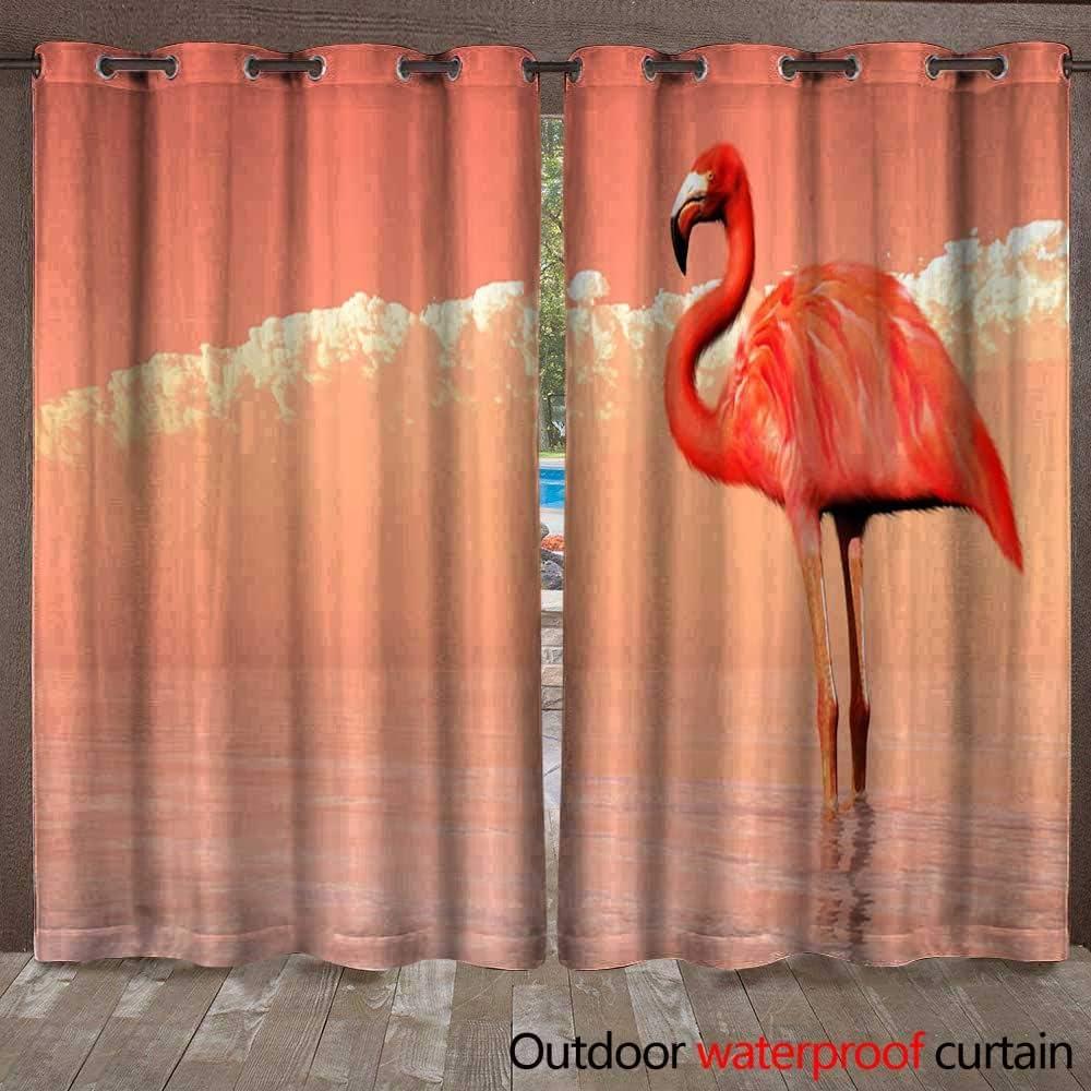 BlountDecor - Cortina para Ventana, Color Rosa con Llamas de pie y Reposo, Impermeable, 108 cm de Ancho x 96 cm de Largo: Amazon.es: Jardín