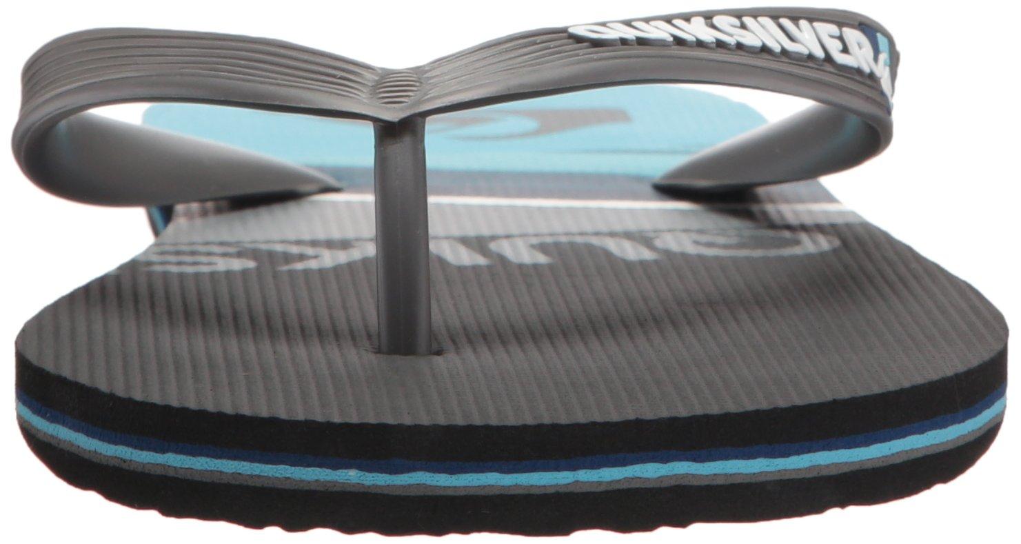 Quiksilver Men's Molokai Slash Sandal, Black/Grey/Blue, 6 D US by Quiksilver (Image #4)