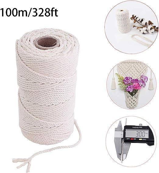 Cuerda trenzada de algodón natural,Cordel de algodón,Hilo de ...