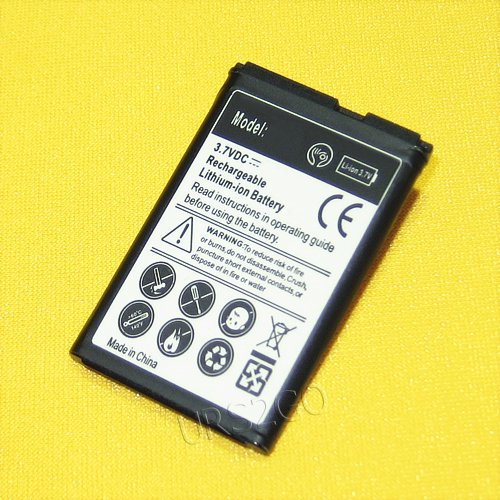 - High Capacity 1350mAh Extended Slim Battery for MetroPCS LG 450 MS450 Cellphone