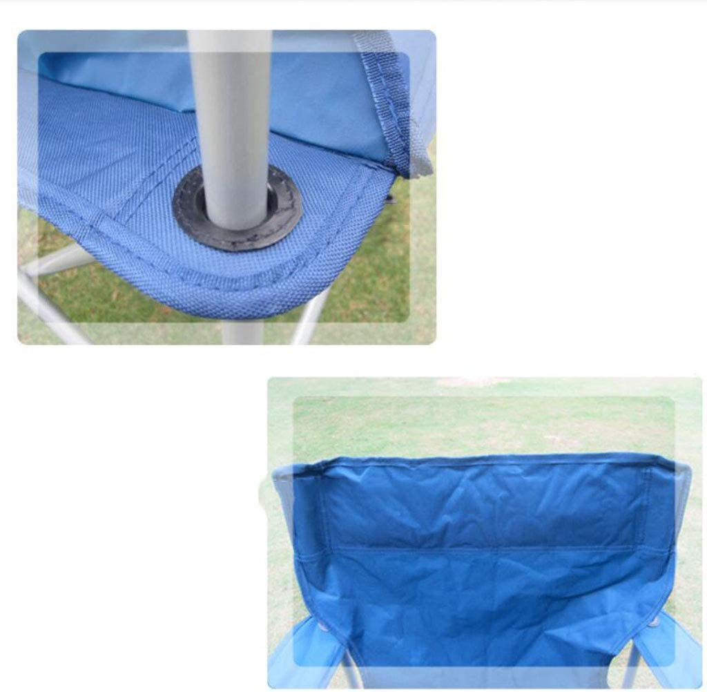 KLEDDP Outdoor Leisure Fishing Folding Chair Armrest Chairs (55 * 52 * 90cm) Folding chair (Color : Blue) Green