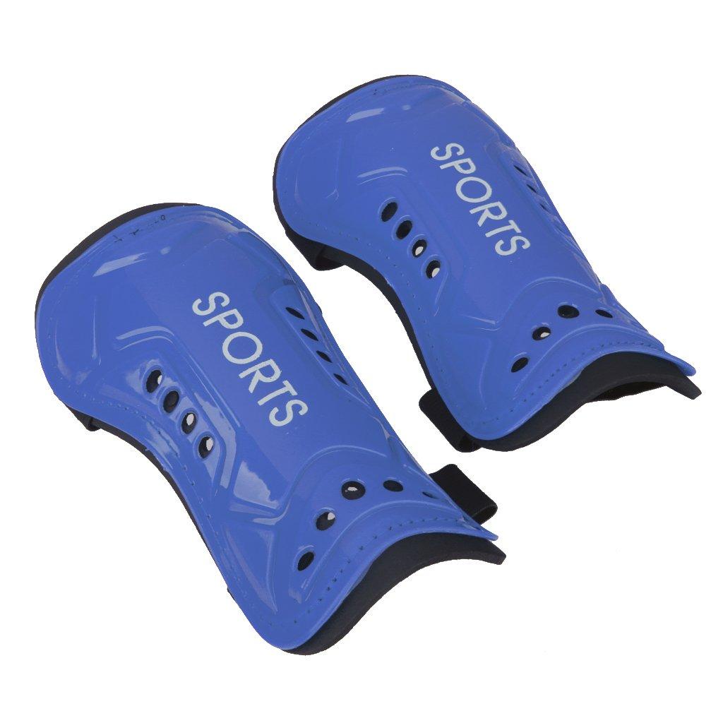 Genericのペアサッカーすねパッドガードアウトドアスポーツ脚プロテクターギアfor Kids Adult – 5 Colors Available B01MT9YGA9 ブルー ブルー