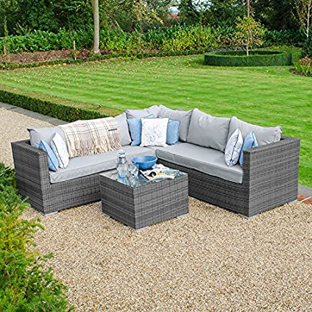 Awesome Nova Lyon Squared Corner Sofa With Coffee Table Outdoor Alphanode Cool Chair Designs And Ideas Alphanodeonline
