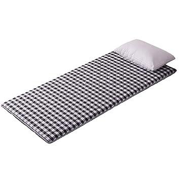 ASDFGH Enrejado Que Colchón Tatami Futon colchón, Tradicional Japonés Suelo colchones futon Portátil con 4 Bandas de Anclaje-Gris Queen: Amazon.es: Hogar