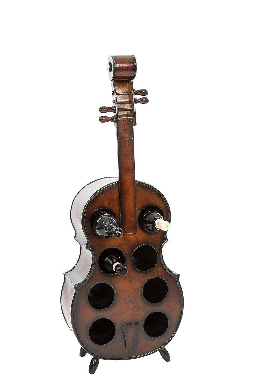 Porte-bouteilles - forme violoncelle - bois - 102 cm
