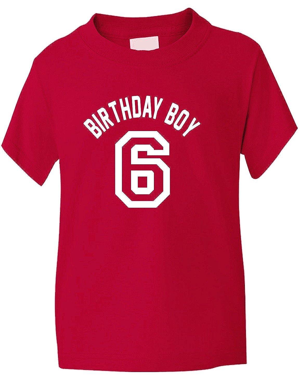 Birthday Boy Age 6 Six  Boys Kids T-Shirt Birthday Gift  Age 1-13