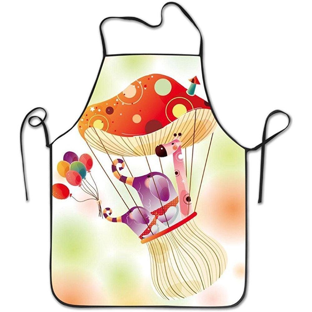バーベキューや料理色きのこと動物基本的なエプロン   B07DC6XVGM