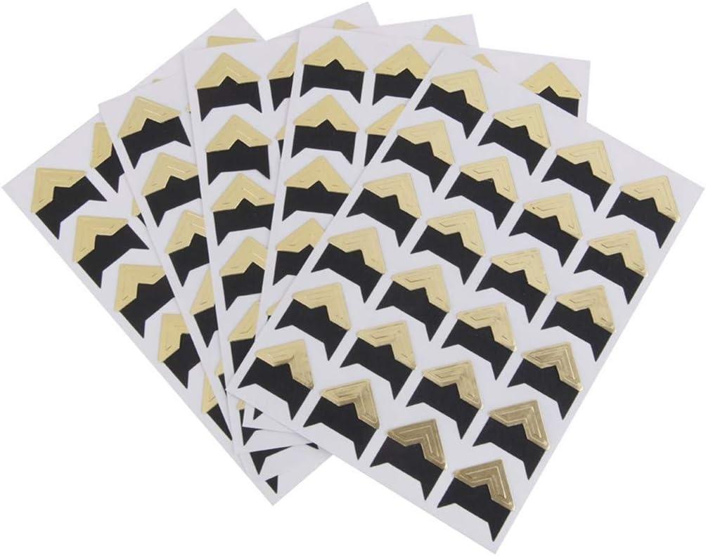 G/én/érique DIY Album Coin Autocollant 5 Feuilles de 120 pi/èces Auto-adh/ésif Autocollants Photo Album Artisanat Stickers Scrapbooking Journal Intime D/écoration par SamGreatWorld