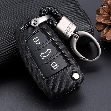 Amazon.com: Royalfox - Funda para llave de Audi A1 A3 A4 A5 ...