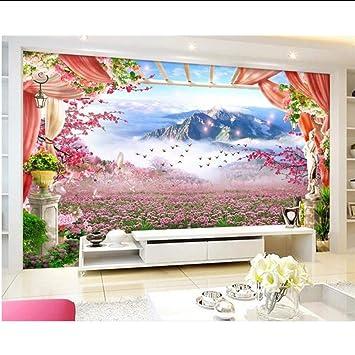 Hhlwl Mural 3d Personalizado Fotomural No Tejido Lavanda Estante