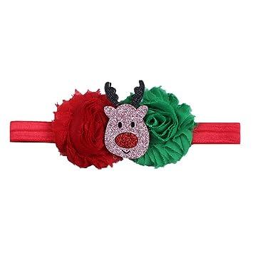 sur des coups de pieds de Style magnifique plus grand choix de Rameng Noël Bébé Filles Bandeau Cheveux Noel Elastique ...