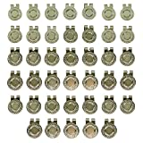 40 Silver Magnetic Hat Clips for Metal Golf Ball Markers (Type #1)
