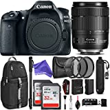 Canon EOS 80D DSLR Camera with EF-S 18-135mm f/3.5-5.6 IS USM Lens w/Advanced Photo and DigitalAndMore Travel Bundle