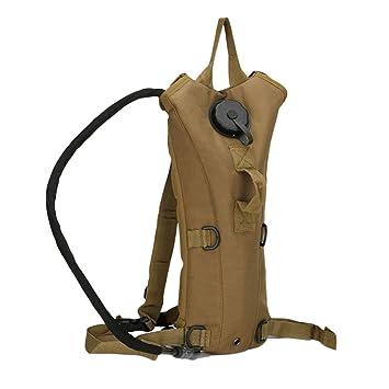 Acampar al Aire Libre Senderismo Camelback Bolsa de Agua Militar táctico Hidratación Mochila Nylon Camel Almacenamiento de vejiga de Agua para Ciclismo 3L: ...