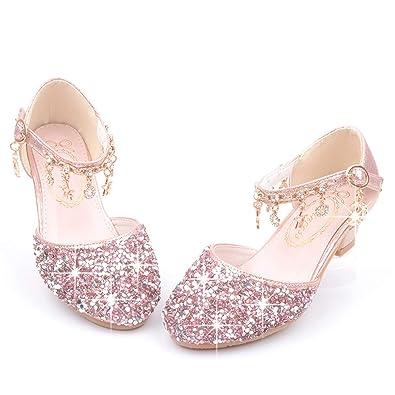 super especiales buena calidad que buen look Fanessy Zapatos para Niñas Princesa Zapatos Sandalias ...