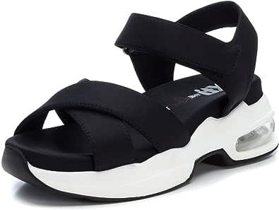 XTI Sandalia XTI049976 para Mujer Negro 36: Amazon.es: Zapatos y complementos