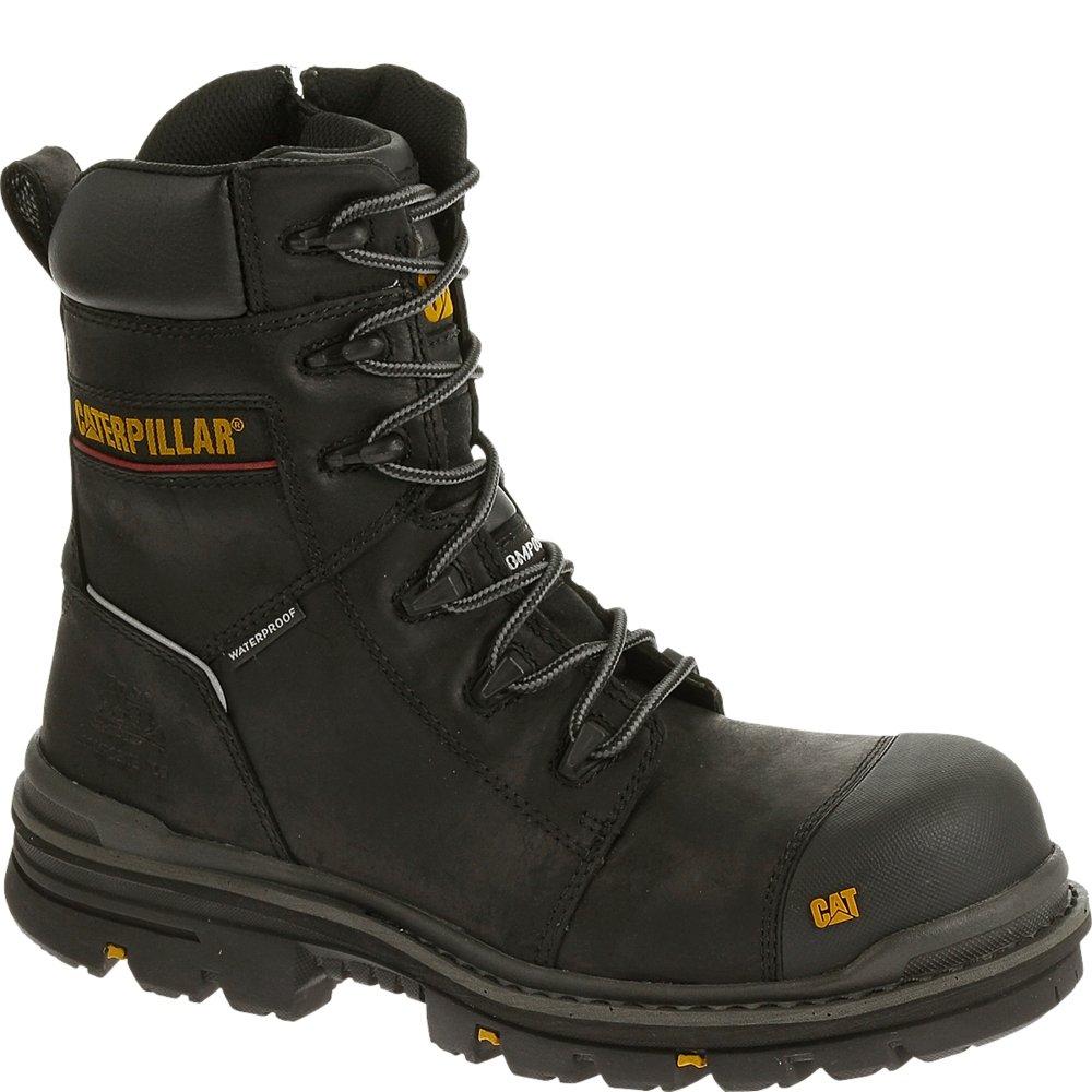 Caterpillar Men's Mortise 8'' Waterproof Work Boot Composite Toe Black 8.5 D(M) US