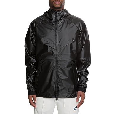 Amazon.com  Nike Sportswear Men s Windrunner QS Hooded DRW Running Jacket -  Black (Medium)   Clothing 2c2bebe49